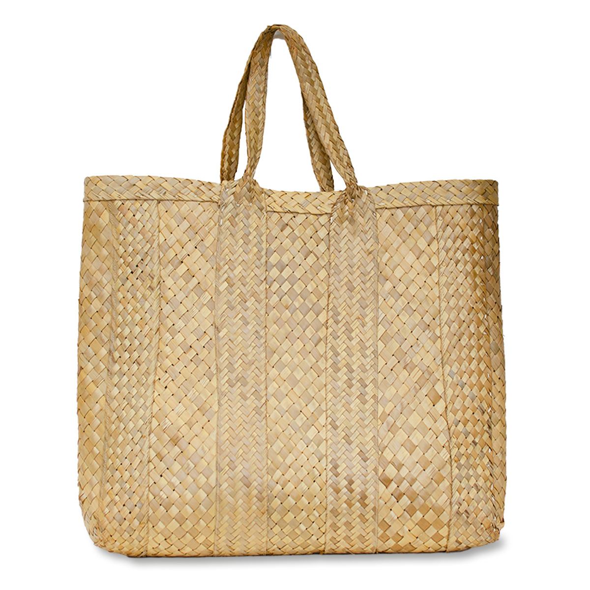 Vintage large straw tote bag