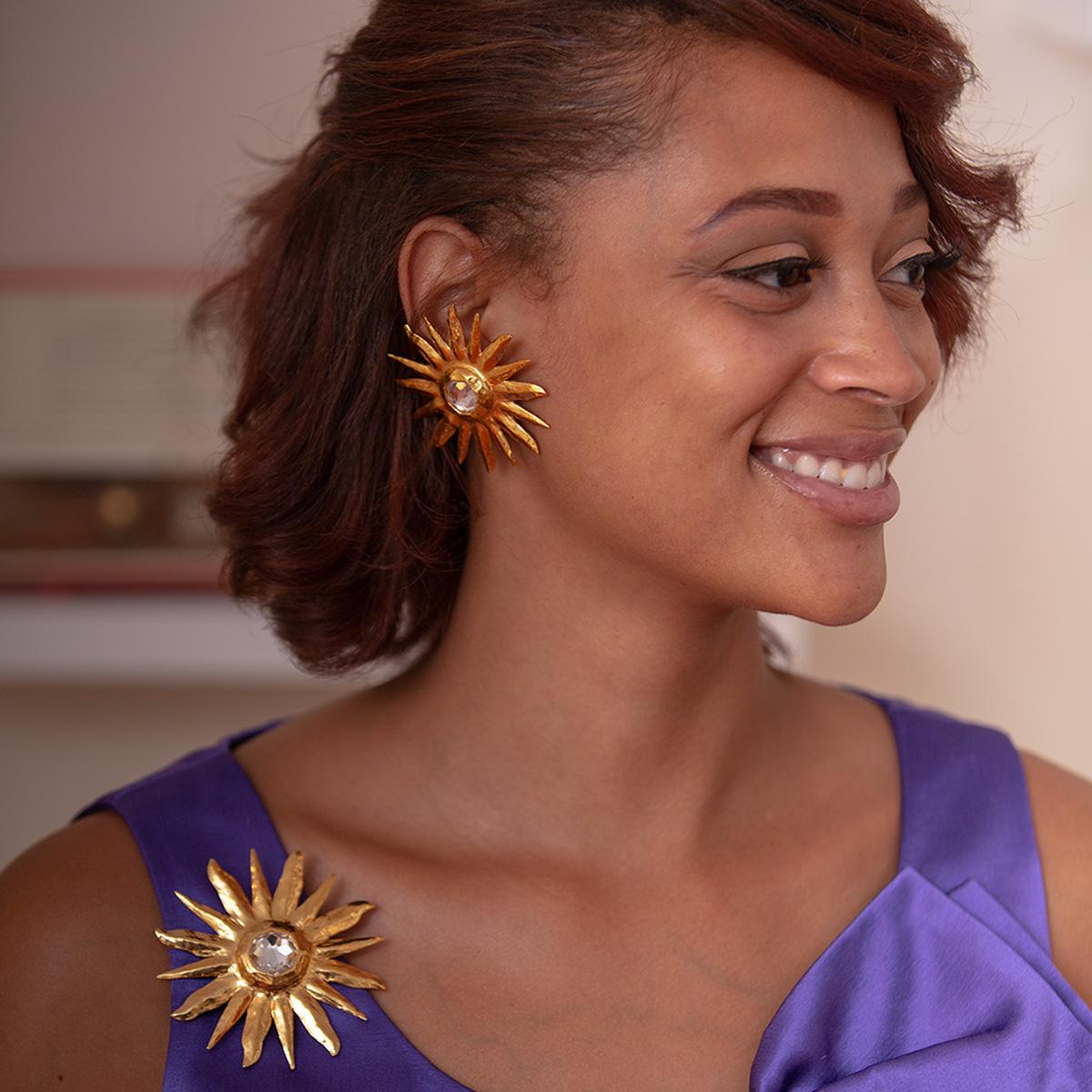 Robert Goossens Yves Saint Laurent clip earrings