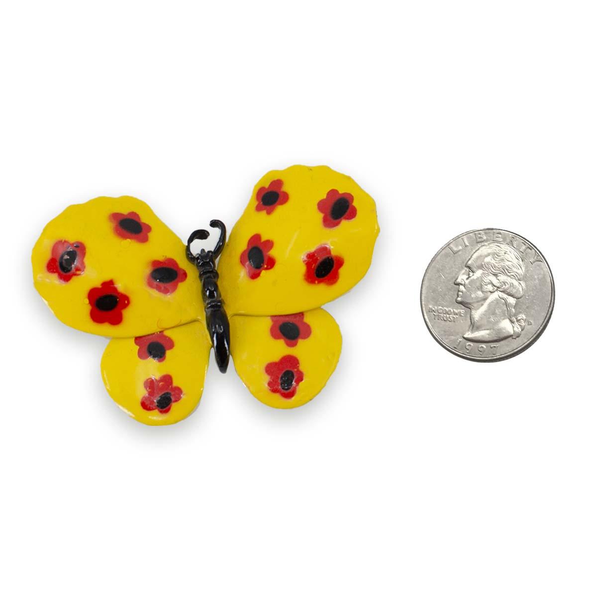 60s mod butterfly brooch