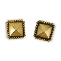 YSL gold earrings