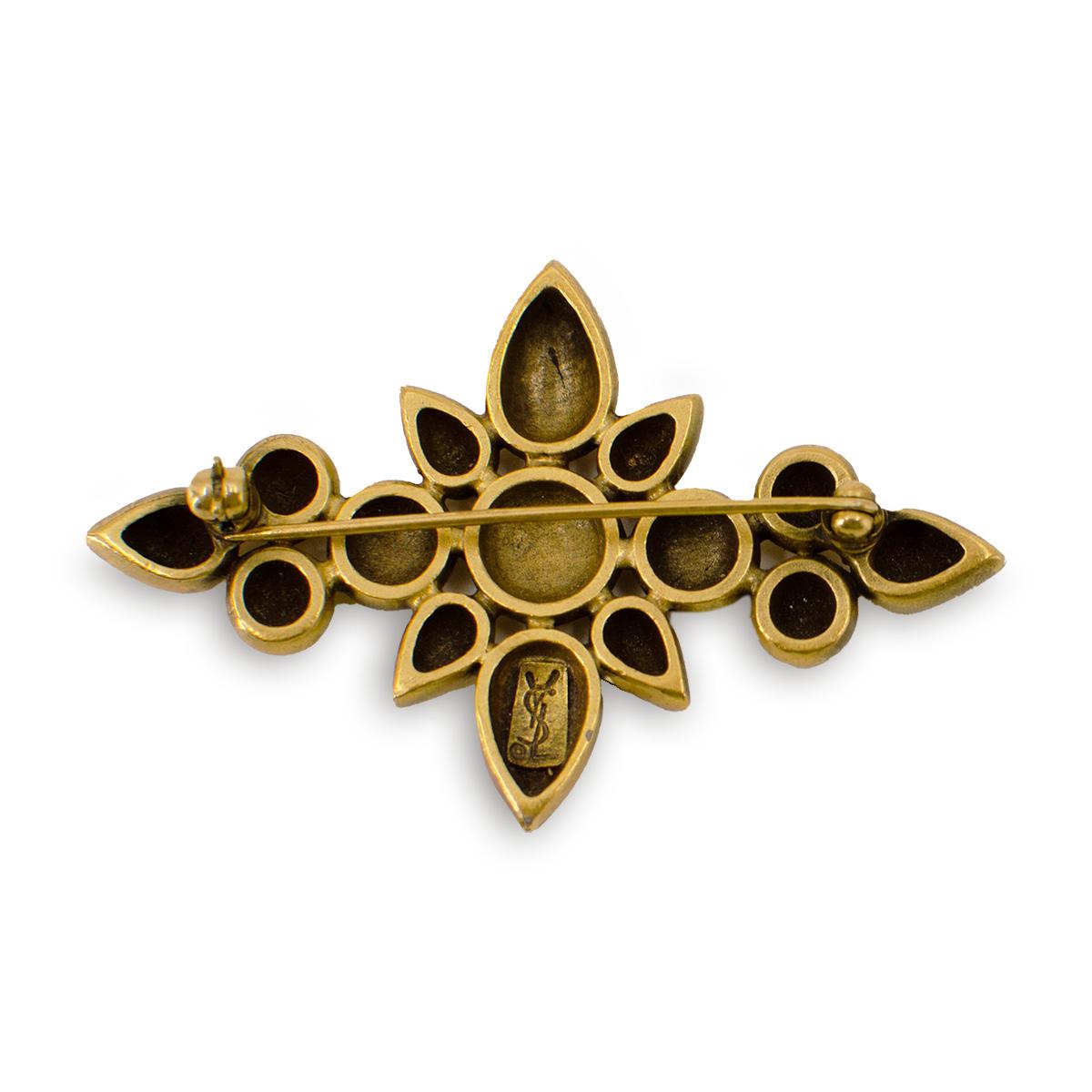 YLS gold brooch