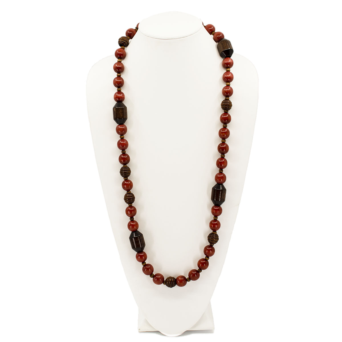 vintage red beads