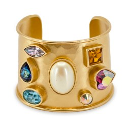 YSL jeweled cuff bracelet