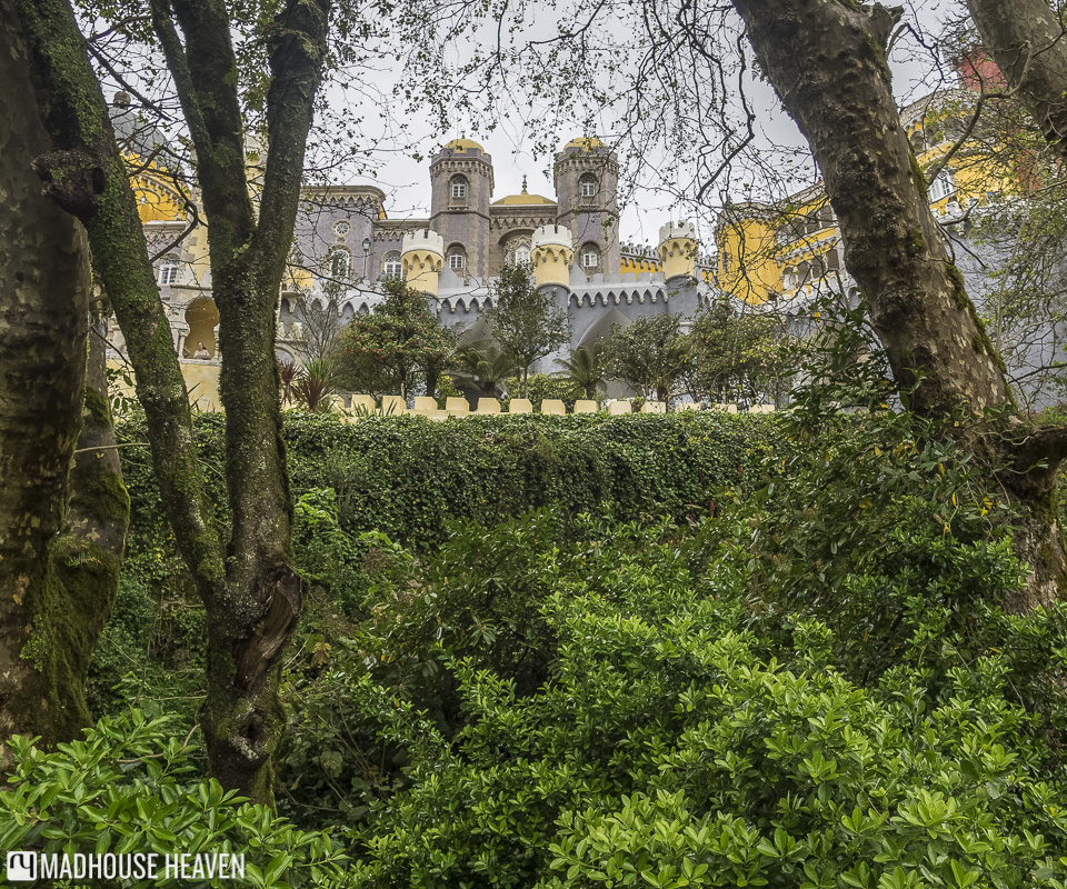 Disney like castle between the trees, Moorish architecture, Science Romanticism Pena National Palace, Sintra