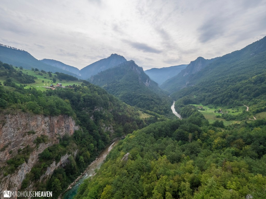 Tara Canyon and Tara river cut into the Mountains of montenegro