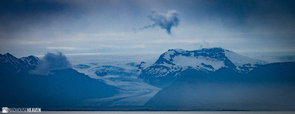 A glacier, part of Vatnajökull national park, seen under the evening light in Eastern Iceland.
