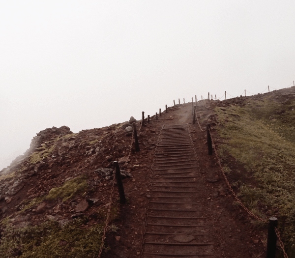 Walking Up the slopes of the Thrihnukagigur Volcano in Iceland
