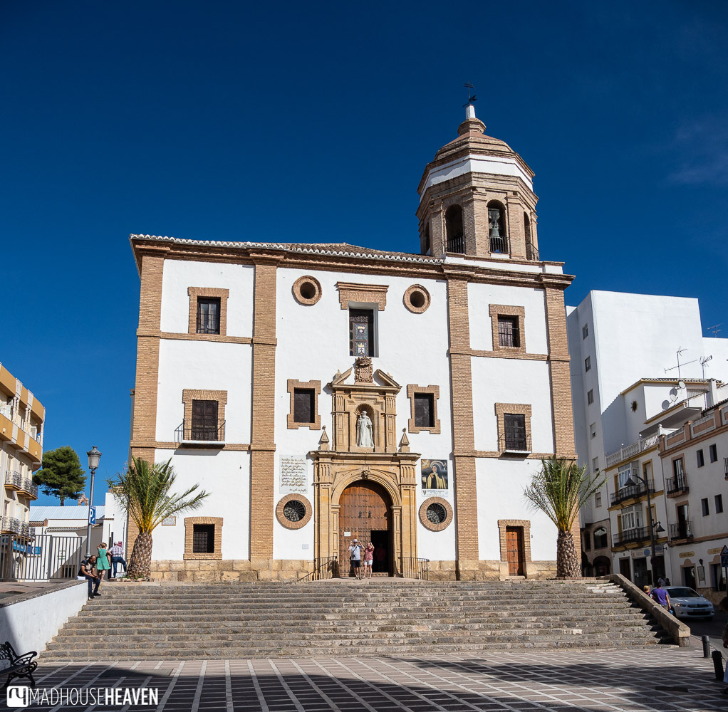 Facade of the Iglesia de Nuestra Señora de la Merced, in the new town of Ronda