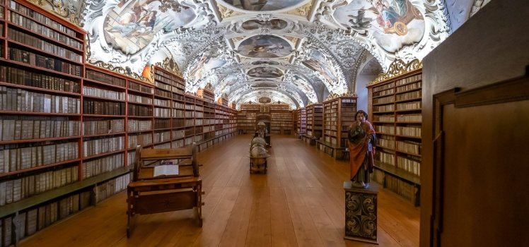 Strahov Monastery's Library - The Theological Hall, Prague, Czech Republic