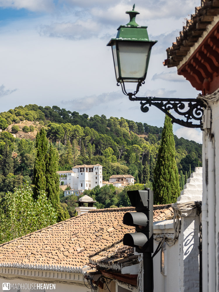 The view of Generalife from the upper parts of Albaicín
