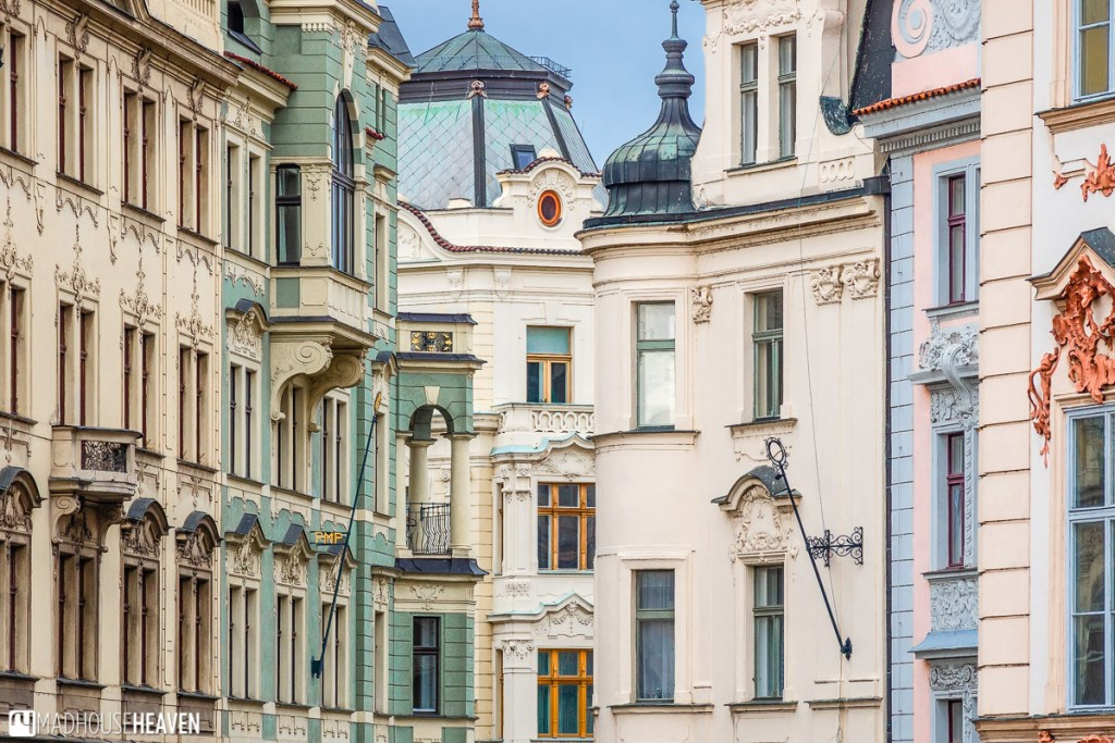 Variations on Neo-Rennaisance architecture in Prague's old town