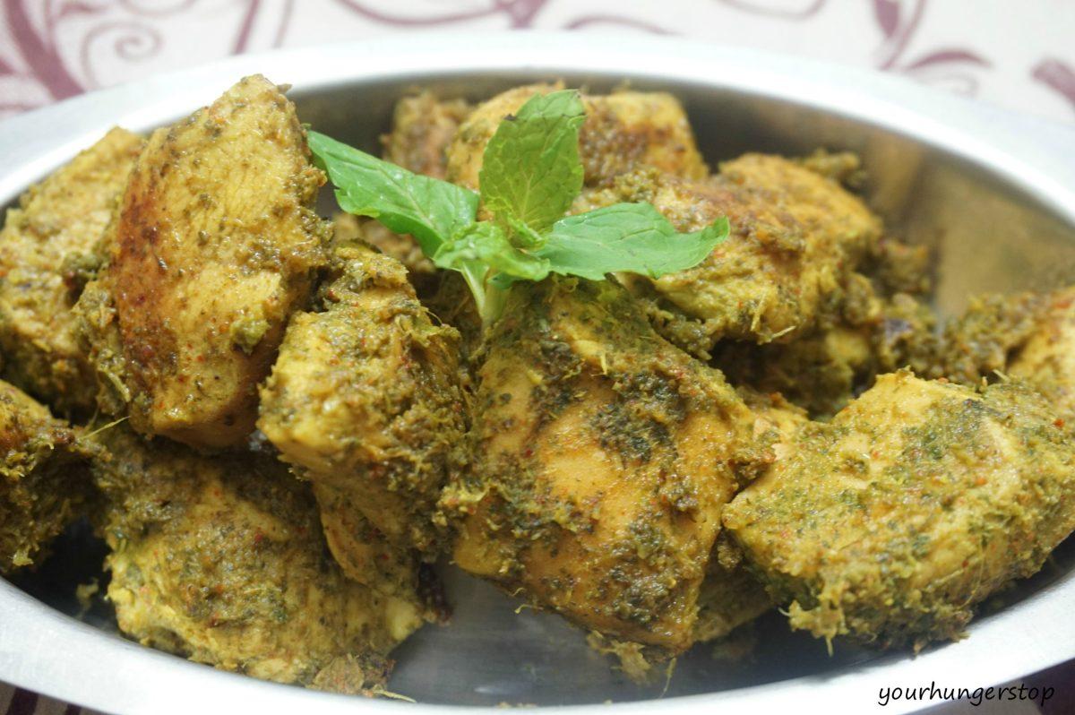 Podina made with Madhuban Korma Sauce