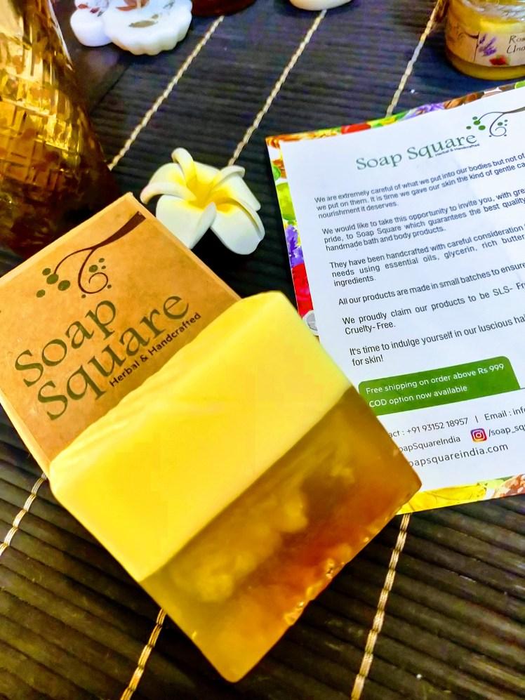 Soap square leamon soap