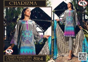 Crystal Masuri Lawn With Chiffon Dupatta D#9651 (6 Suits 1 Box )