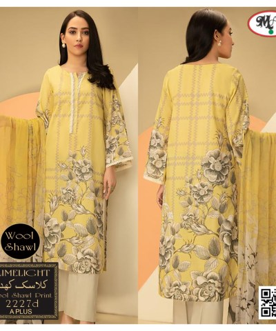 """""""CLASSIC""""Khaddar With Wool Shawl No Emboridery (Vol 8 Suits)"""