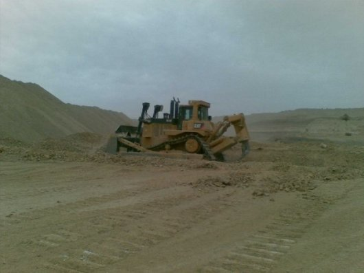 MCC D10T at work phosphate mining