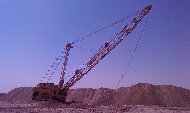 MCC phosphate drag line south Egypt