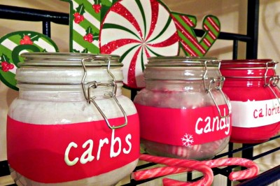 Snarky Christmas Canisters with Martha Stewart Craft by Plaid