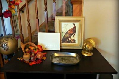 Golden Thanksgiving Decor