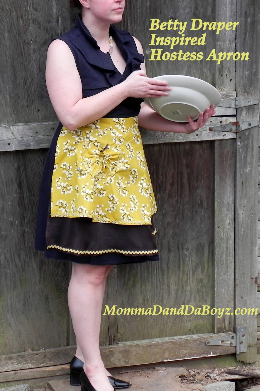 Betty Draper Inspired Hostess Apron