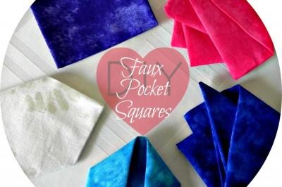DIY Faux Pocket Squares