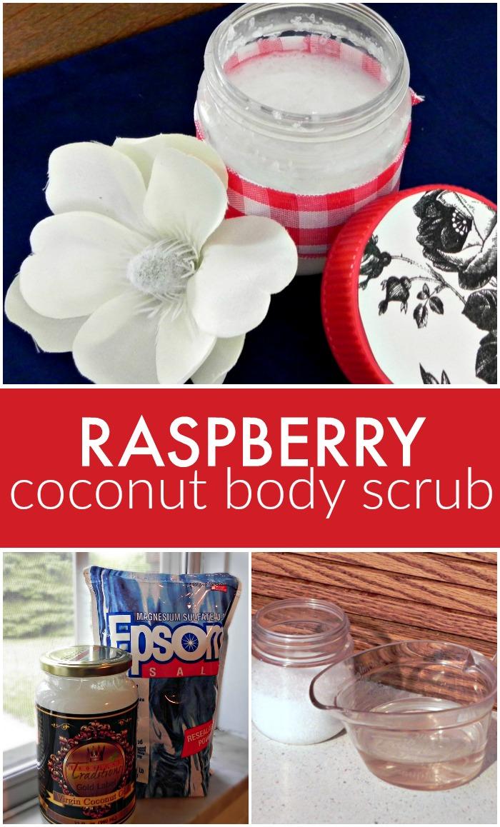 Raspberry Coconut Oil Body Scrub