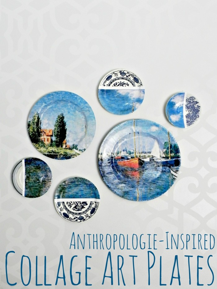 Anthropologie-Inspired Collage Art Plates