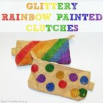 Glittery Rainbow Painted Clutches
