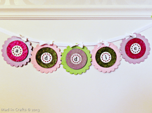 Personalized Flower Banner