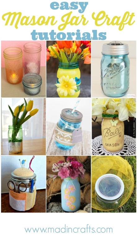 14 Mason Jar Craft Tutorials