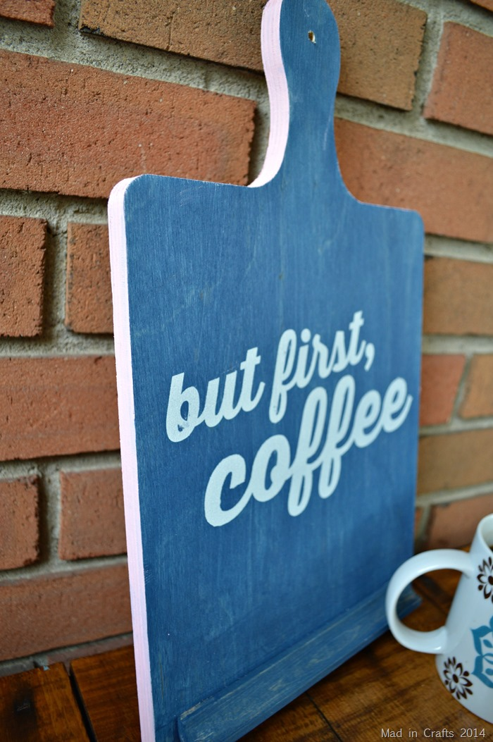 But First Coffee Sign painted edges