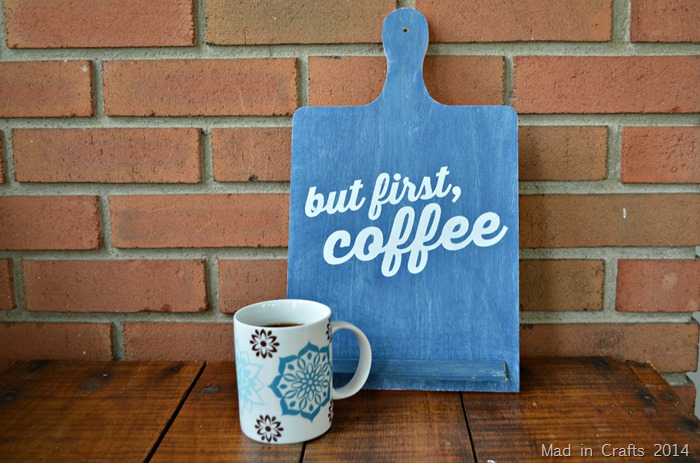 Stenciled But First Coffee Sign