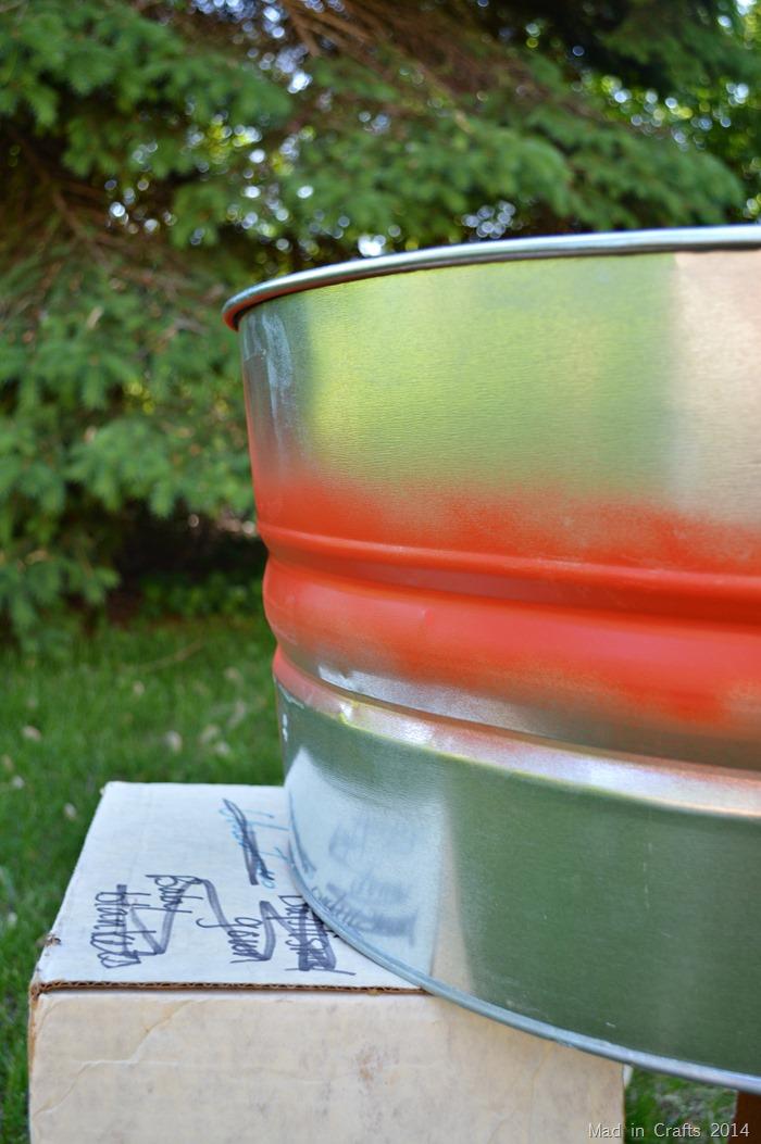 Spray Painted stripe