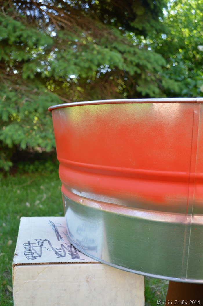 Wider spray paint stripe