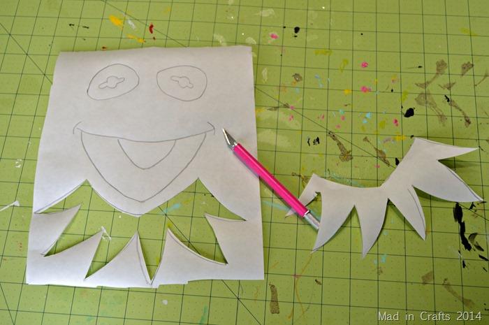 Kermit Freezer Paper Stencil