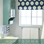 How To Sew A Faux Roman Shade Mad In Crafts