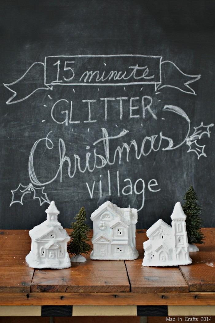 15 Minute Mini Christmas Village