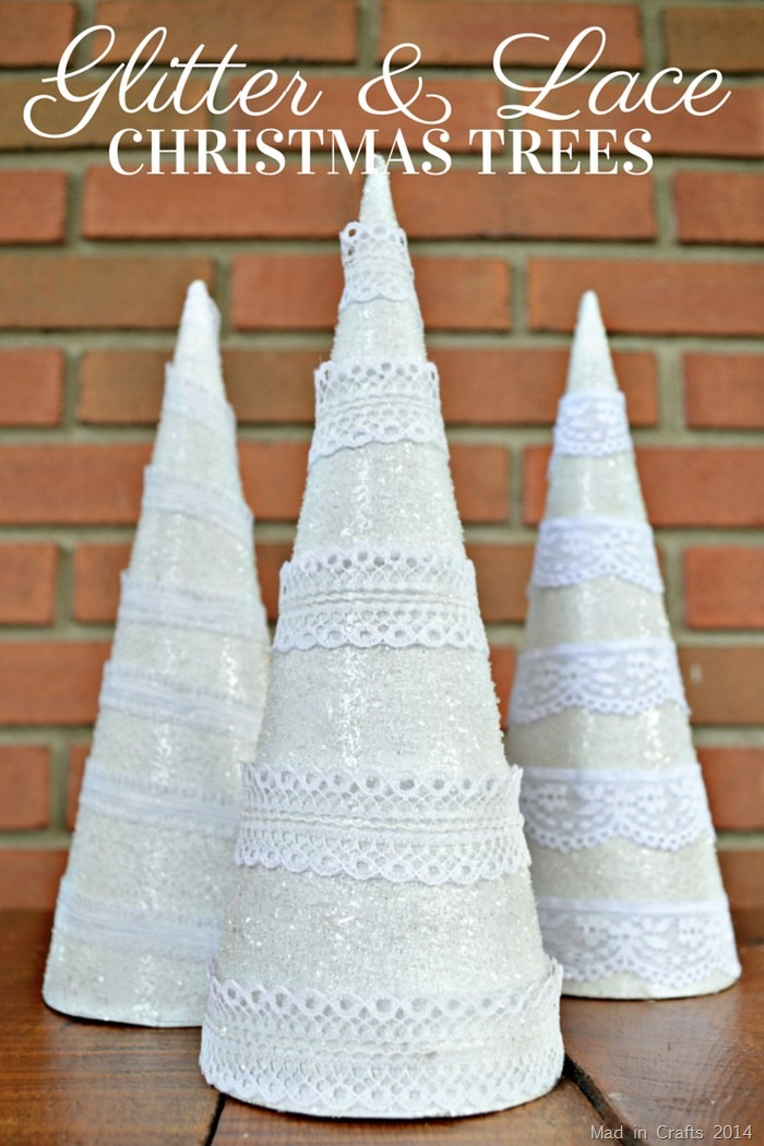 Glitter and Lace Christmas Trees Tutorial
