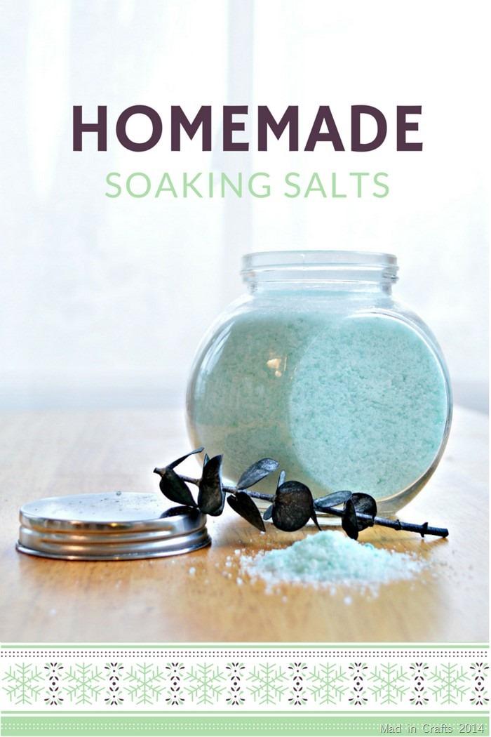 HOMEMADE SOAKING SALTS TUTORIAL
