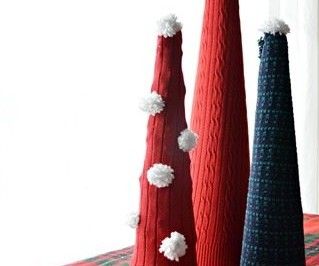 SWEATER SLEEVE CHRISTMAS TREES