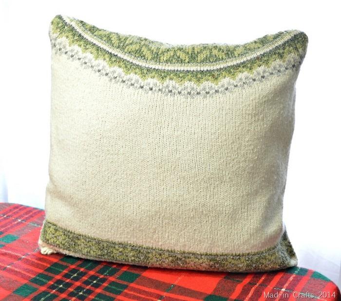 fair isle sweater pillow