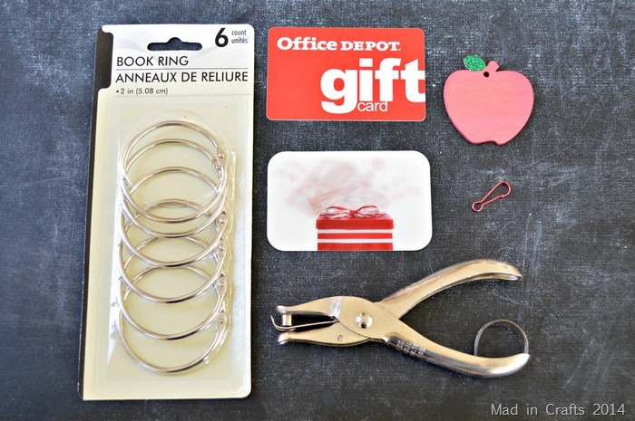 Gift Card Ring Supplies