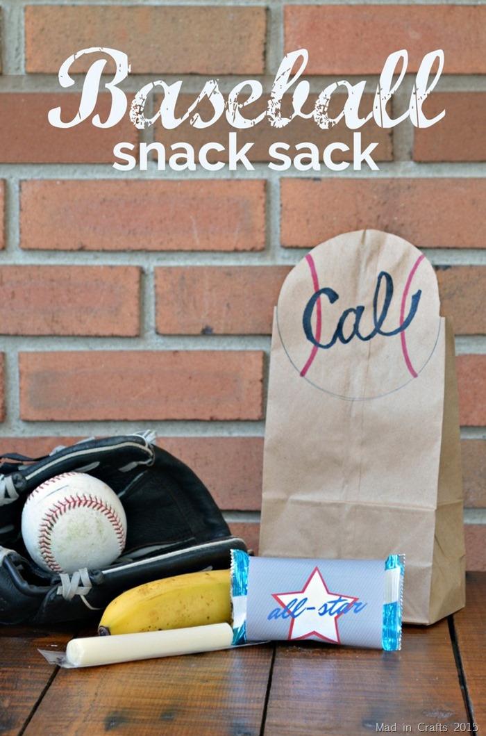 Baseball Snack Sack with Printables