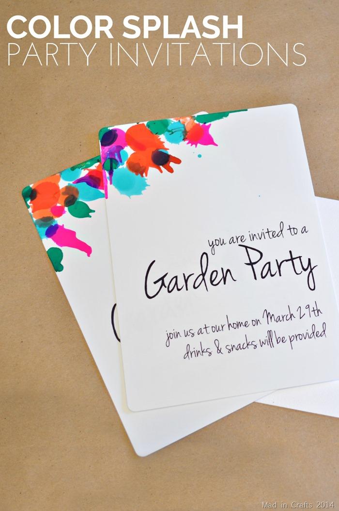 Color Splash Party Invitations