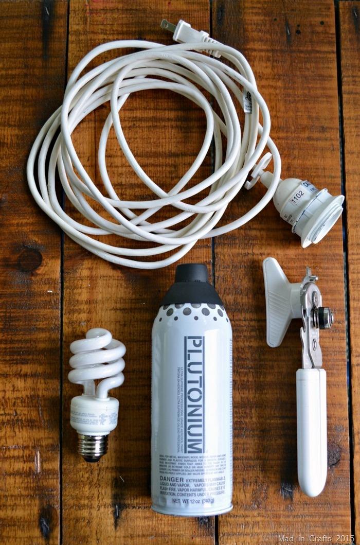 Spray paint can pendant light supplies