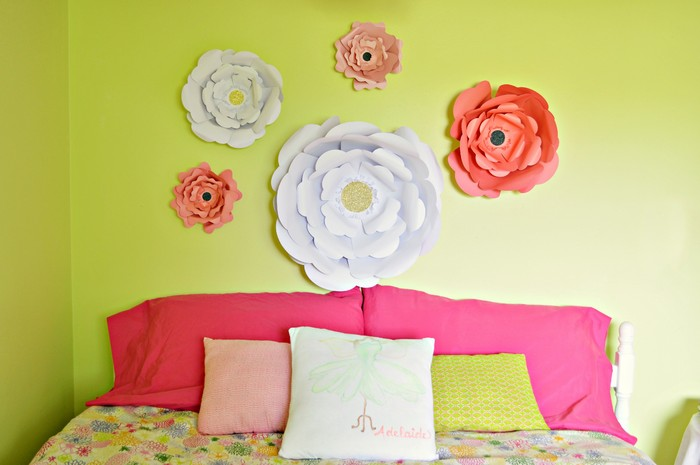 big blooms on wall