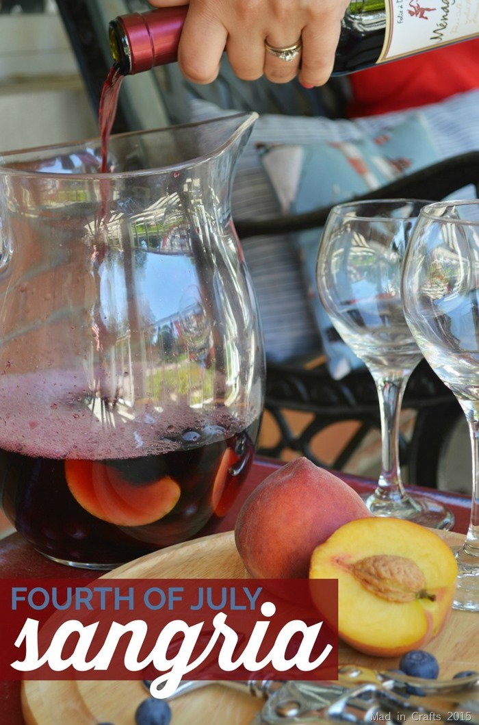 Fourth of July Sangria Recipe - Mad in Crafts
