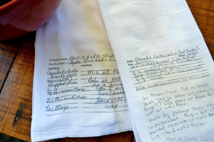 Family Recipe Kitchen Towels