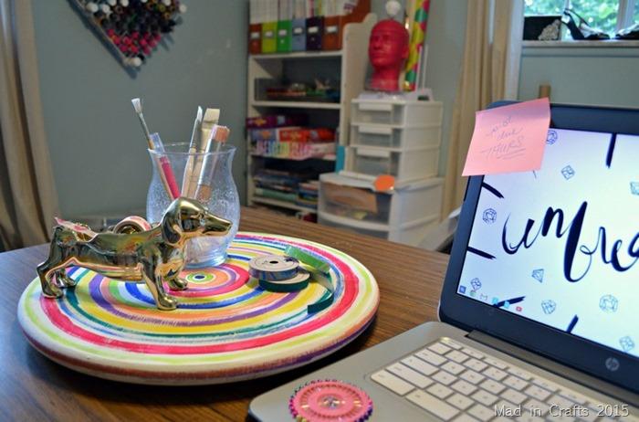 craft desk lazy susan