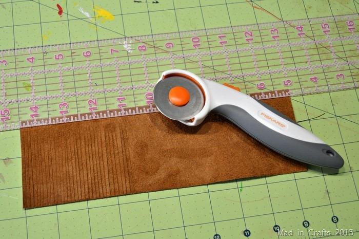 cutting leather fringe